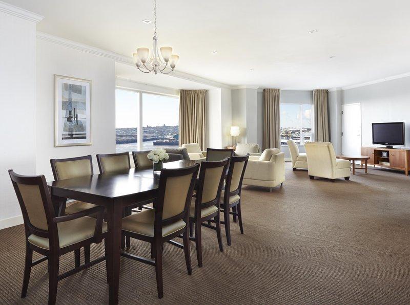 Hilton Saint John Trade &amp; Convention Centre-Royal Suite Living area<br/>Image from Leonardo