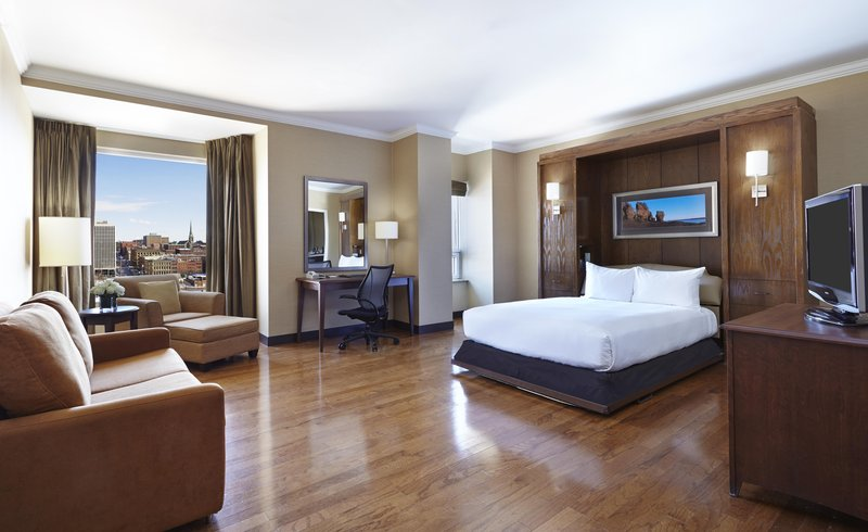 Hilton Saint John-One Queen bed Club floor Junior Suite<br/>Image from Leonardo