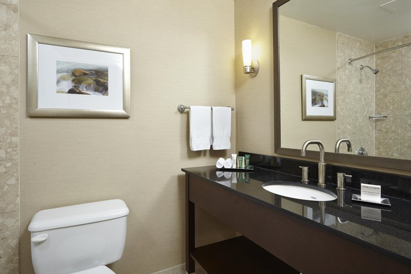 Hilton Saint John Trade &amp; Convention Centre-Stanard Bathroom<br/>Image from Leonardo