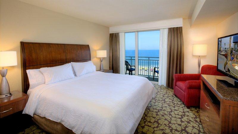 Hilton Garden Inn Virginia Beach Oceanfront-King Suite Bedroom<br/>Image from Leonardo