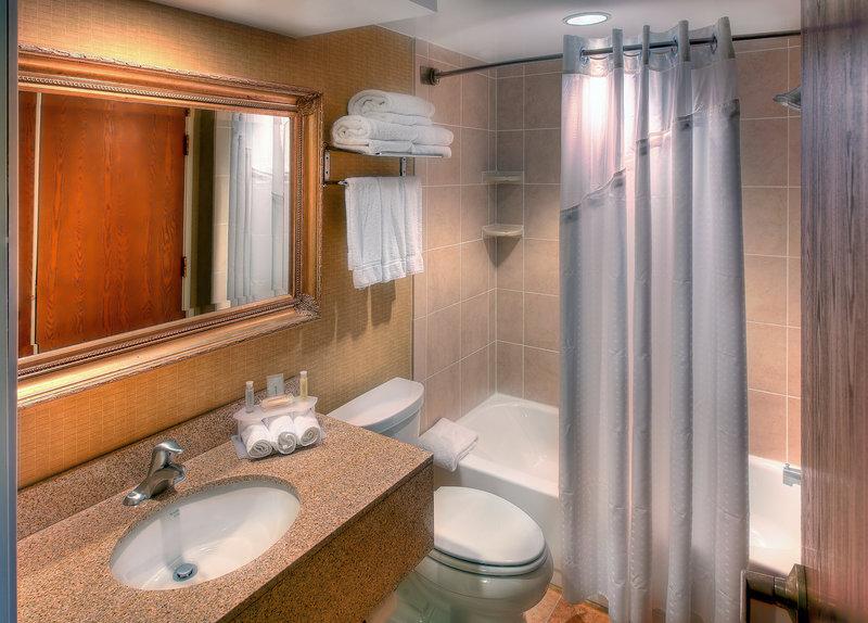 Holiday Inn Express Charleston US Hwy 17 & I-526-Renovated Guest Bathroom<br/>Image from Leonardo