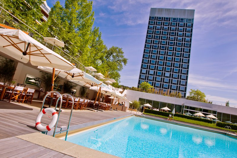 InterContinental Geneve-Hotel Exterior view from the Pool<br/>Image from Leonardo