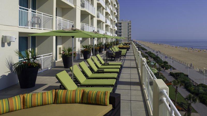 Hilton Garden Inn Virginia Beach Oceanfront-Third Floor Sundeck<br/>Image from Leonardo