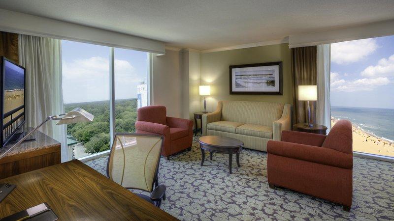 Hilton Garden Inn Virginia Beach Oceanfront-North End Living Room and View<br/>Image from Leonardo