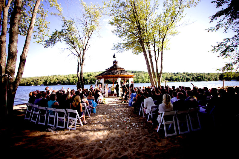 Deerhurst Resort-Deerhurst Gazebo Beach Wedding<br/>Image from Leonardo