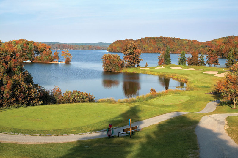 Deerhurst Resort-Deerhurst Lakeside Golf Course in Fall<br/>Image from Leonardo