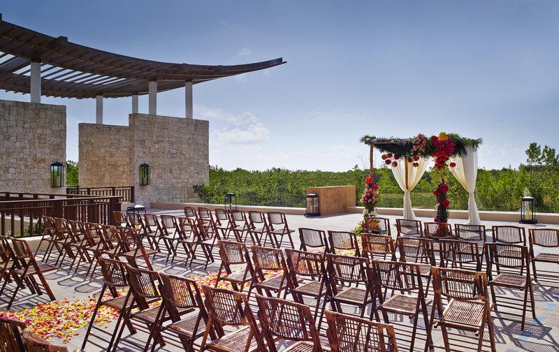 Fairmont Mayakoba - Wedding Setup At Lobby Terrace <br/>Image from Leonardo