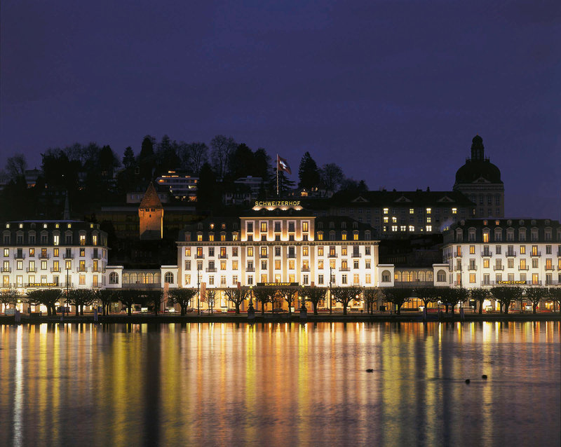 Hotel Schweizerhof Luzern-Exterior at Night<br/>Image from Leonardo