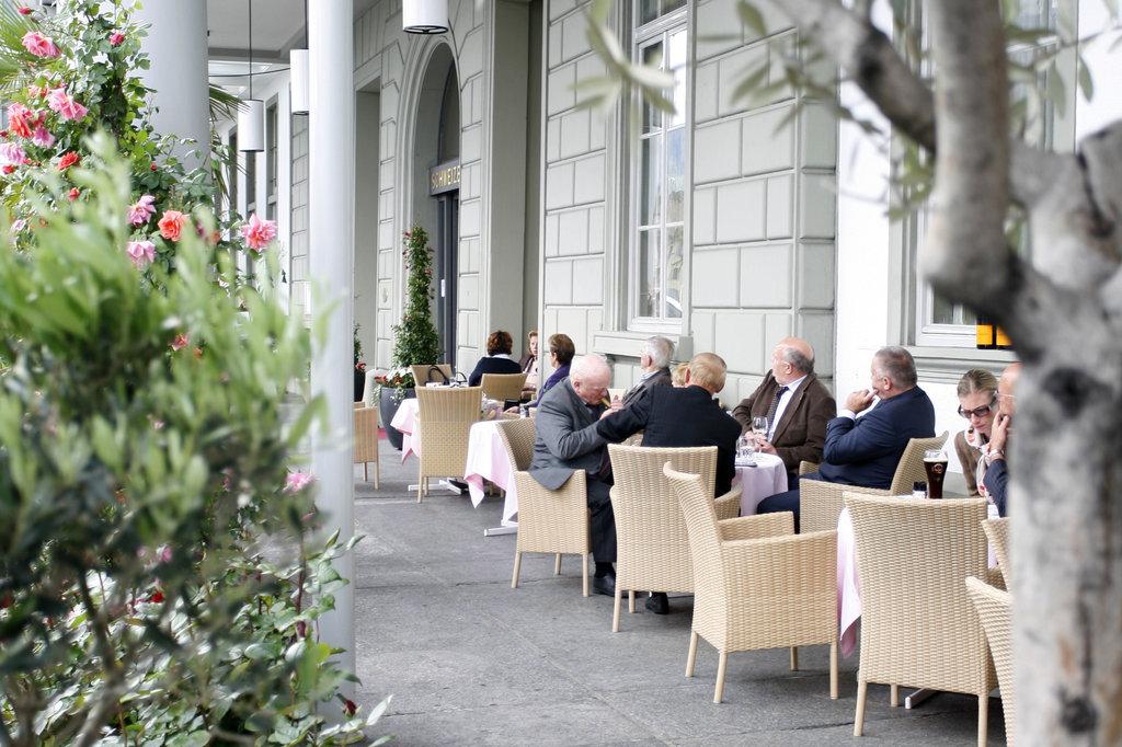 Hotel Schweizerhof Luzern-Restaurants Terrace<br/>Image from Leonardo