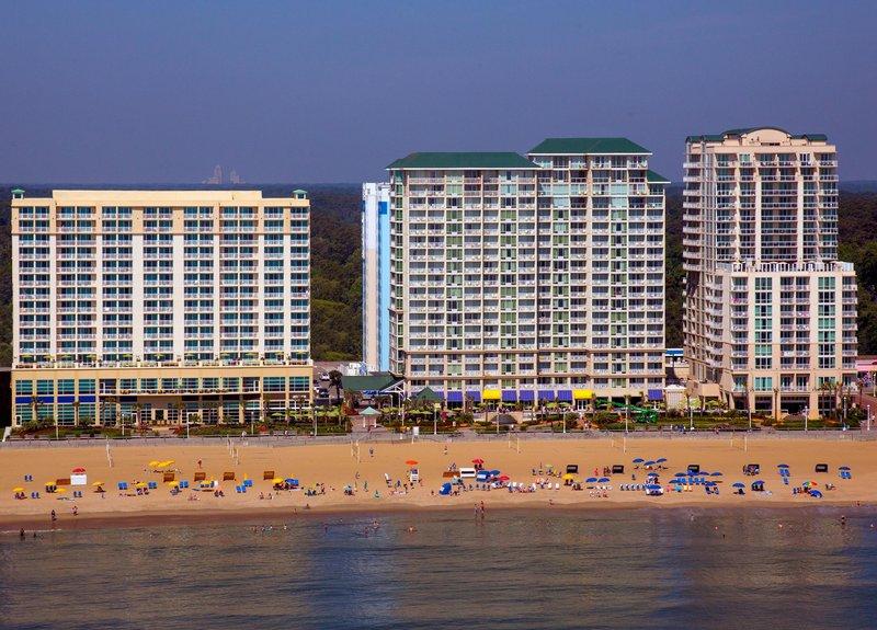 Hilton Garden Inn Virginia Beach Oceanfront-Aerial View from Ocean<br/>Image from Leonardo
