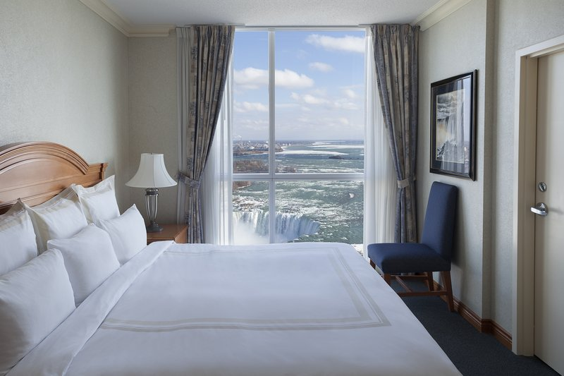 Marriott Niagara Falls on the Falls-Two-Bedroom Fallsview Suite King Bedroom<br/>Image from Leonardo