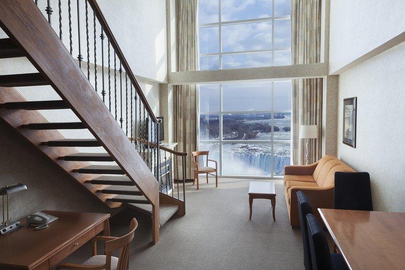 Marriott Niagara Falls on the Falls-Loft Living Area<br/>Image from Leonardo