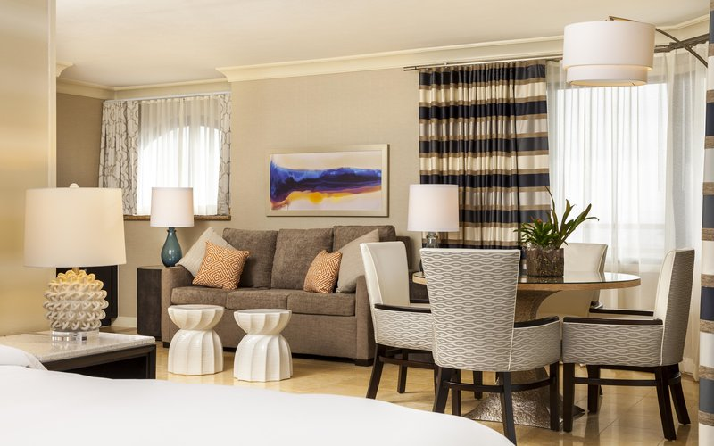 The Waterfront Beach Resort, A Hilton Hotel-Oceanfront Studio Suite, Sofa and Table<br/>Image from Leonardo