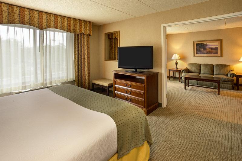 Holiday Inn Ann Arbor Univ Michigan Area-King Boardroom Suite Bedroom and Living Room<br/>Image from Leonardo