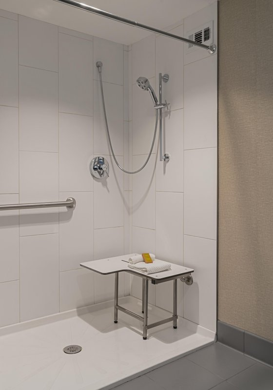 DoubleTree by Hilton Austin-Accessible Bathroom with Shower<br/>Image from Leonardo