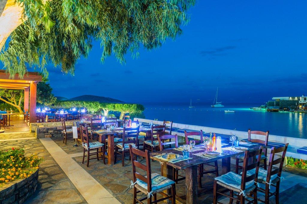 Elounda Bay Palace-Ariadne Taverna at night<br/>Image from Leonardo