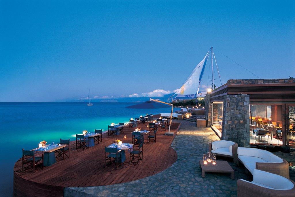Elounda Bay Palace-F Restaurant at night<br/>Image from Leonardo