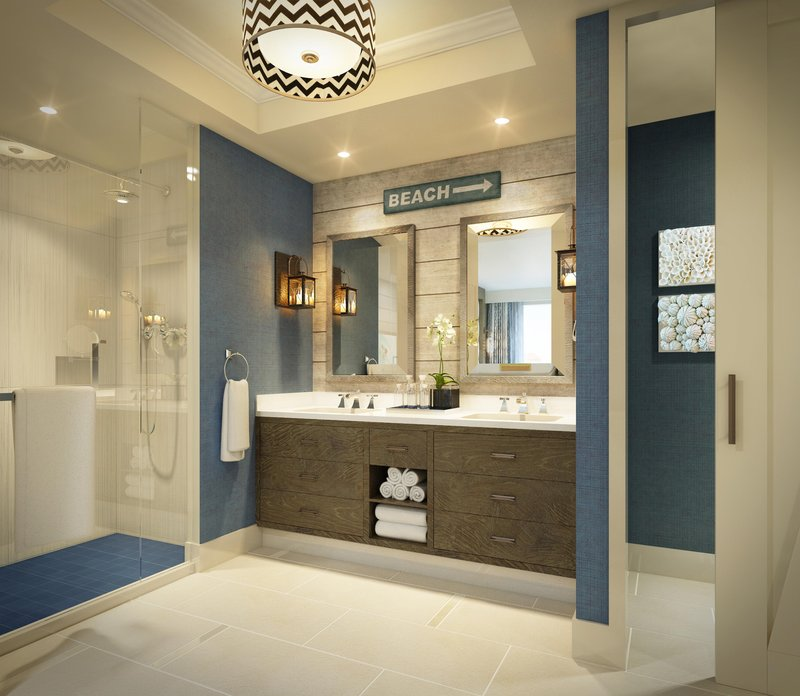 The Waterfront Beach Resort, A Hilton Hotel-Pacific Suite Bath<br/>Image from Leonardo