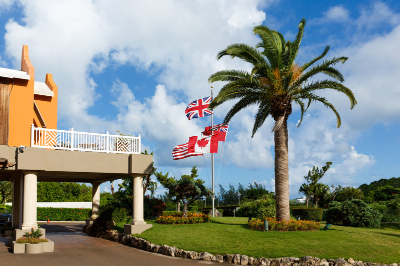 Grotto Bay Resort-Front Entrance Flags<br/>Image from Leonardo