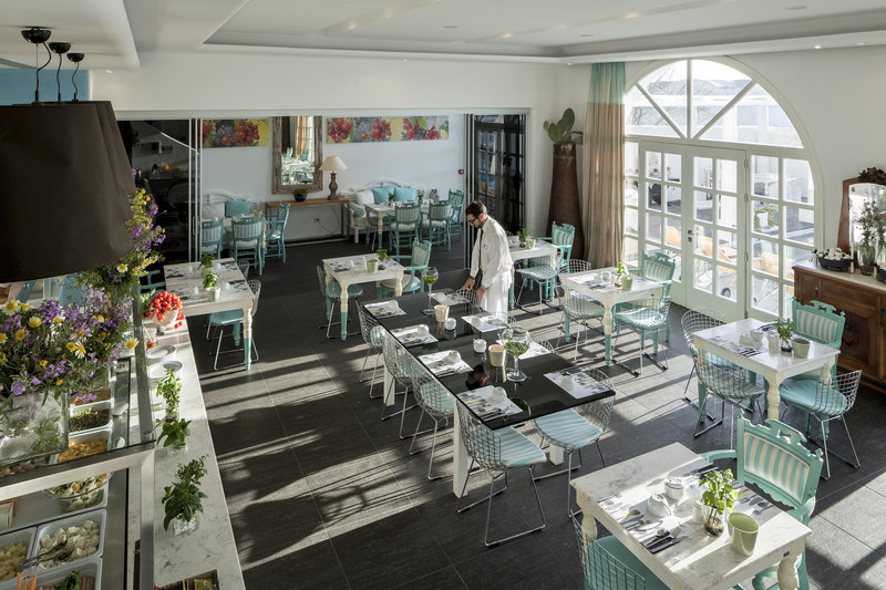 Aressana Spa Hotel & Suites-Ifestioni Restaurant - Interior Area - Breakfast<br/>Image from Leonardo