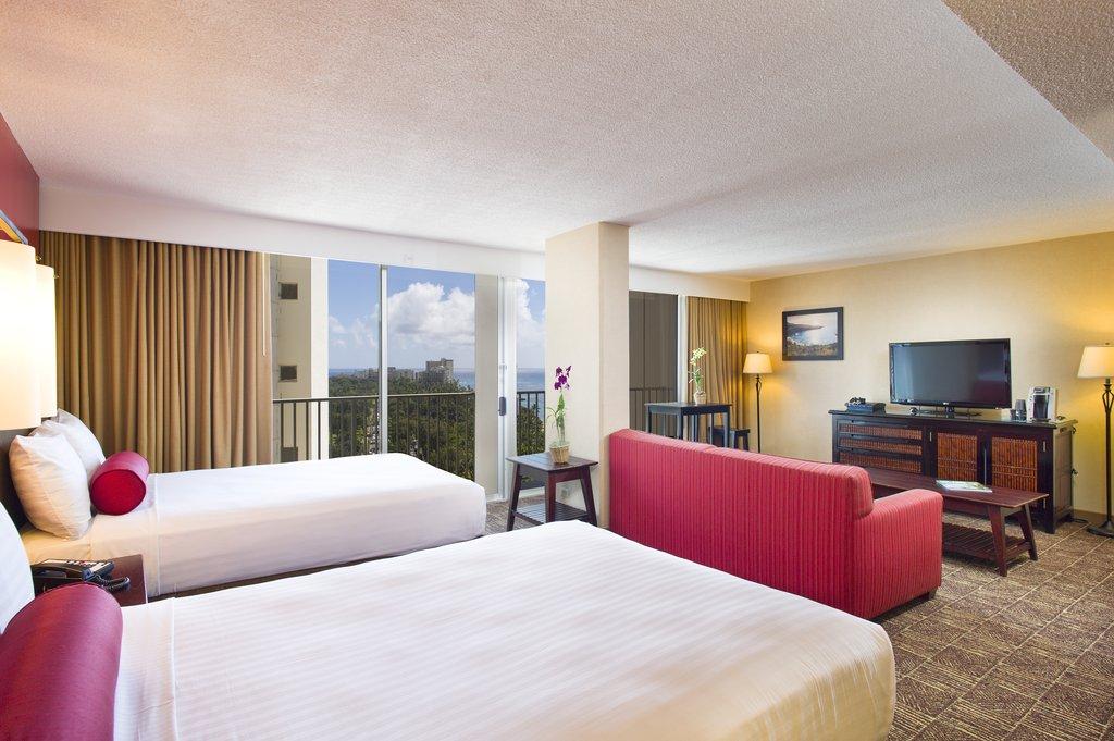 Aston Waikiki Beach Hotel - Hotel Room ASPOVDouble Beds View <br/>Image from Leonardo
