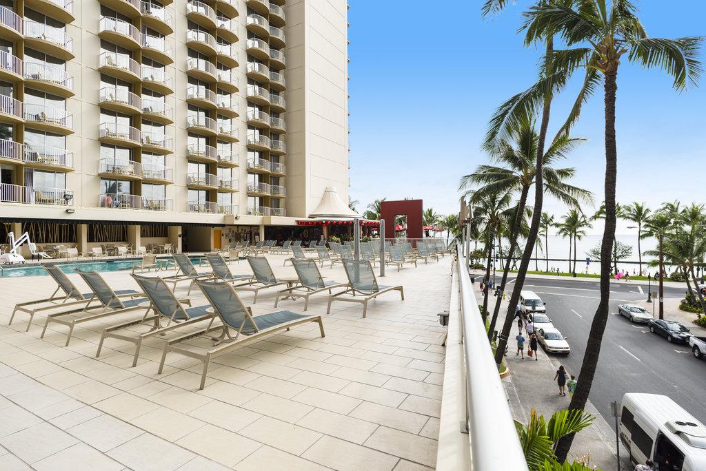 Aston Waikiki Beach Hotel - Hotel Pool View & Sitting Area <br/>Image from Leonardo