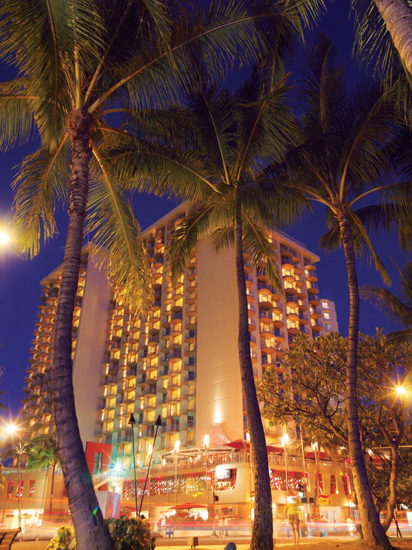 Aston Waikiki Beach Hotel - Hotel Exterior Evening <br/>Image from Leonardo