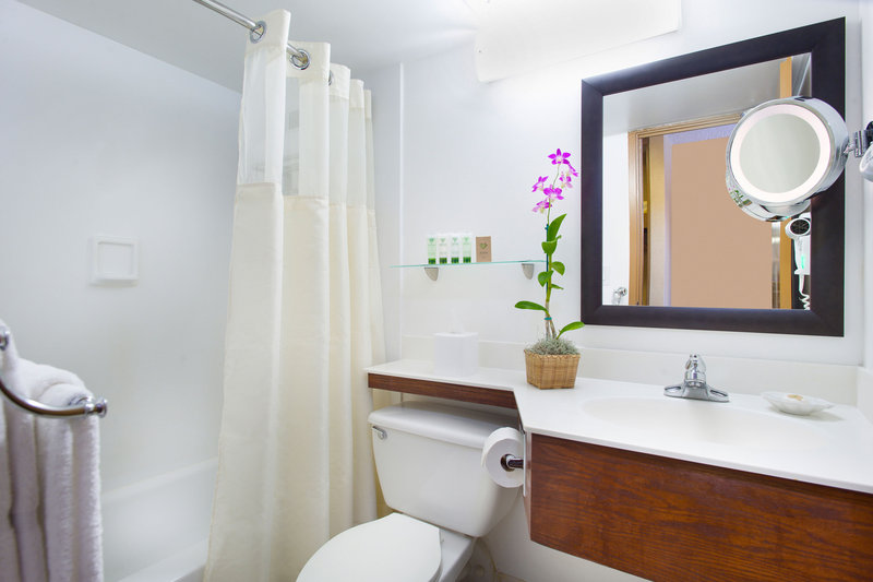 Aston Waikiki Beach Hotel - Hotel Room Bathroom <br/>Image from Leonardo