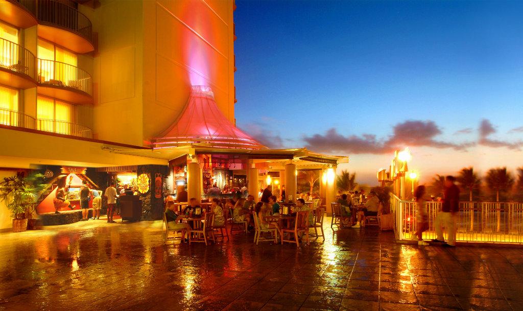 Aston Waikiki Beach Hotel - Tiki's View at Night <br/>Image from Leonardo