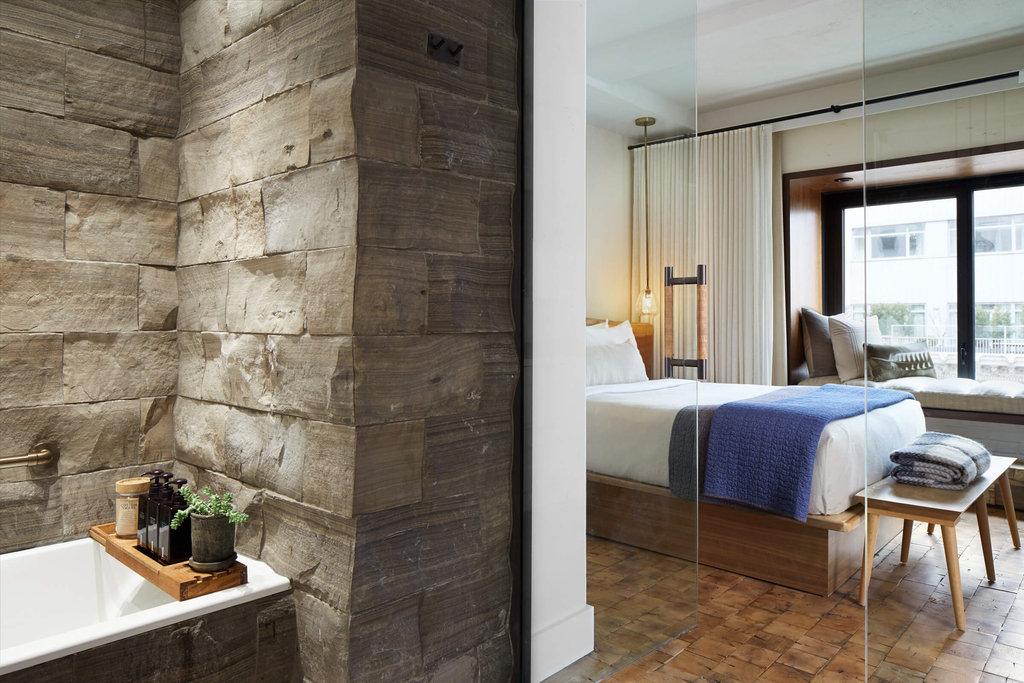 1 Hotel Central Park-Greenhouse Suite Guest Bathroom<br/>Image from Leonardo