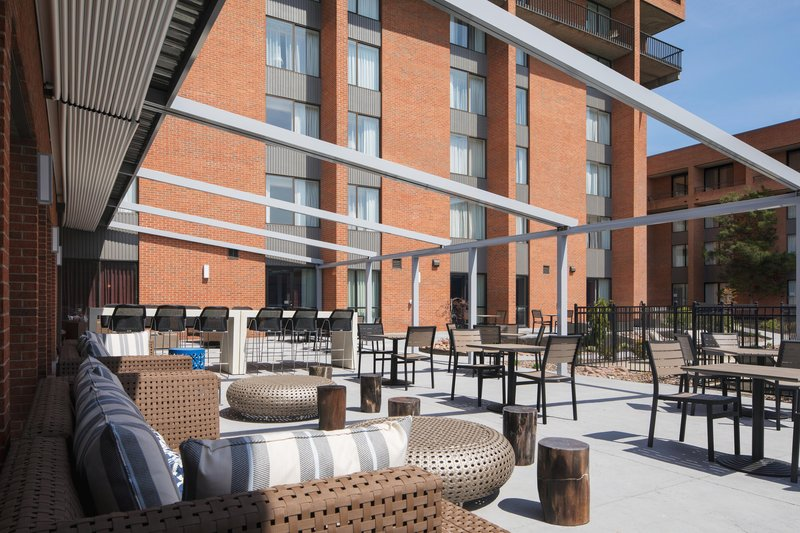 DoubleTree by Hilton Syracuse-Outdoor Patio Seating Area<br/>Image from Leonardo