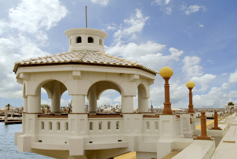 Omni Corpus Christi Hotel-Gazebo Overlooking the Bay<br/>Image from Leonardo