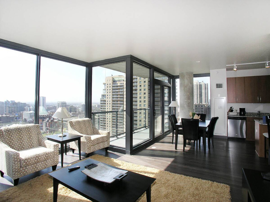 State And Grand Apartments-Living Room And Balcony<br/>Image from Leonardo