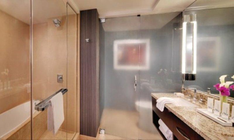Aria Resort and Casino-Deluxe Room Bathroom<br/>Image from Leonardo