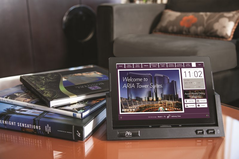 Aria Resort and Casino - Aria In Room Tablet <br/>Image from Leonardo