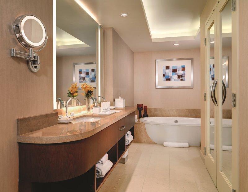 Aria Resort and Casino - Corner Suite Bathroom <br/>Image from Leonardo