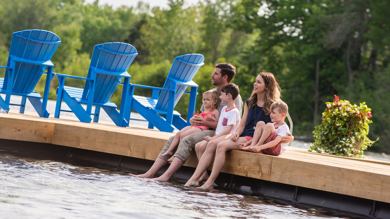Deerhurst Resort-Family On Dock<br/>Image from Leonardo