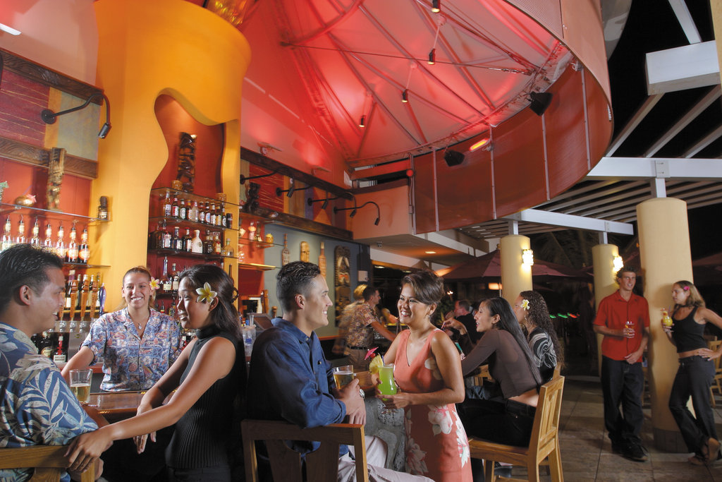 Aston Waikiki Beach Hotel - Tiki's Outdoor Bar <br/>Image from Leonardo