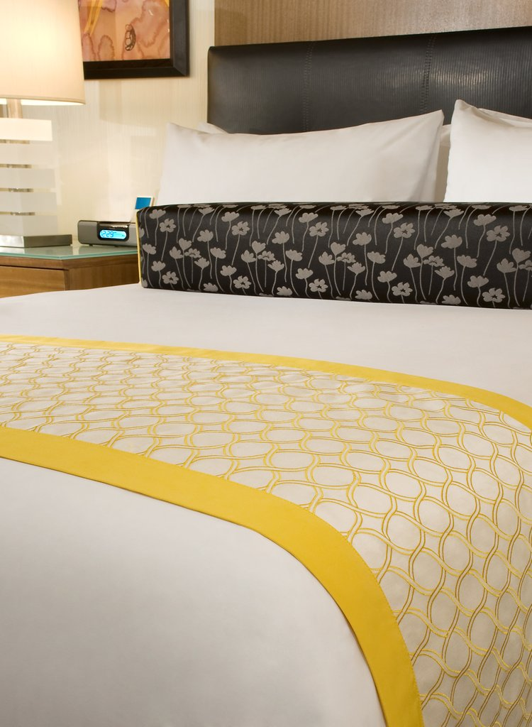 The Mirage Hotel and Casino - Resort Queen Bed Detail <br/>Image from Leonardo