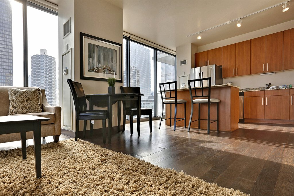 State And Grand Apartments-Floor Plan Kitchen<br/>Image from Leonardo