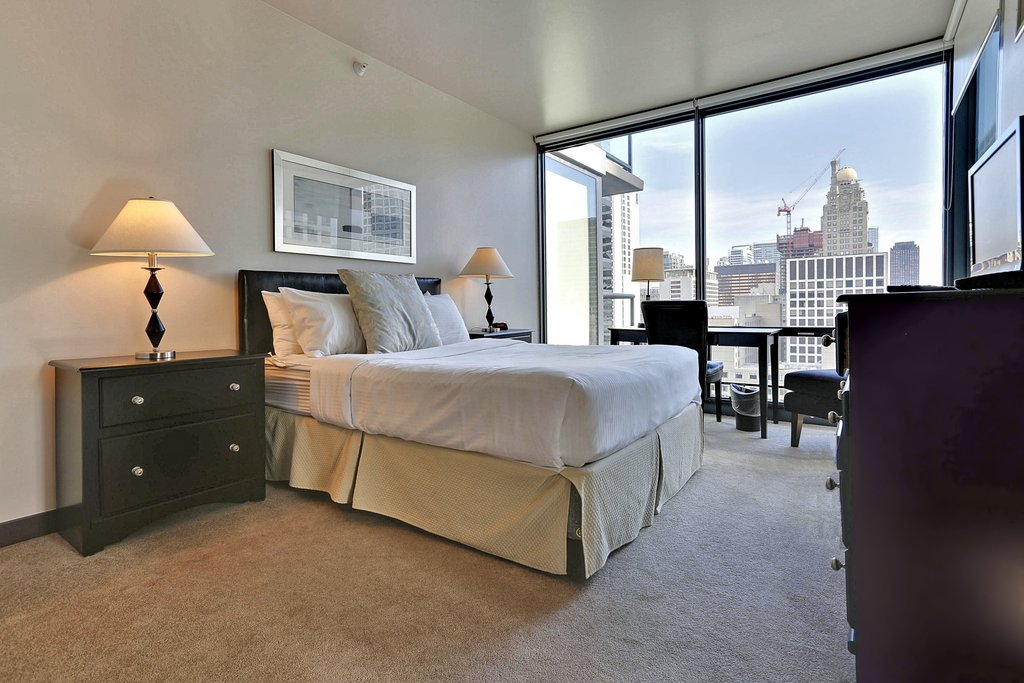 State And Grand Apartments-Floor Pla Bedroom<br/>Image from Leonardo