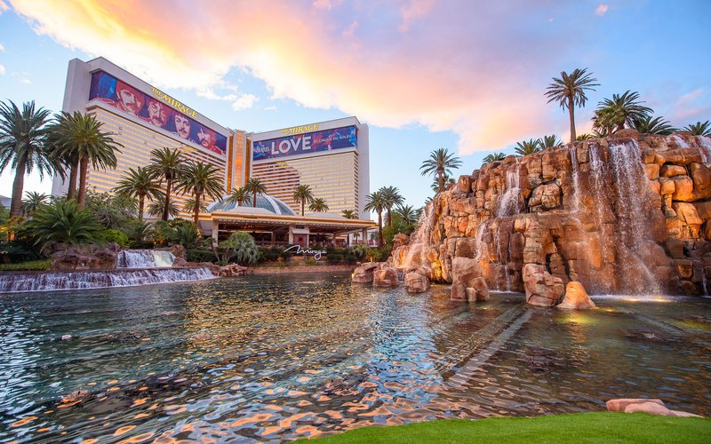 The Mirage Hotel and Casino - Mirage Exterior Daytime <br/>Image from Leonardo