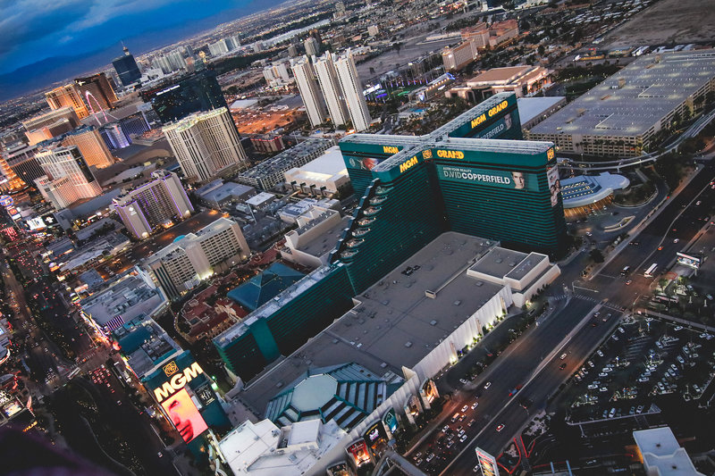 MGM Grand Hotel & Casino-MGM Grand Aerial<br/>Image from Leonardo