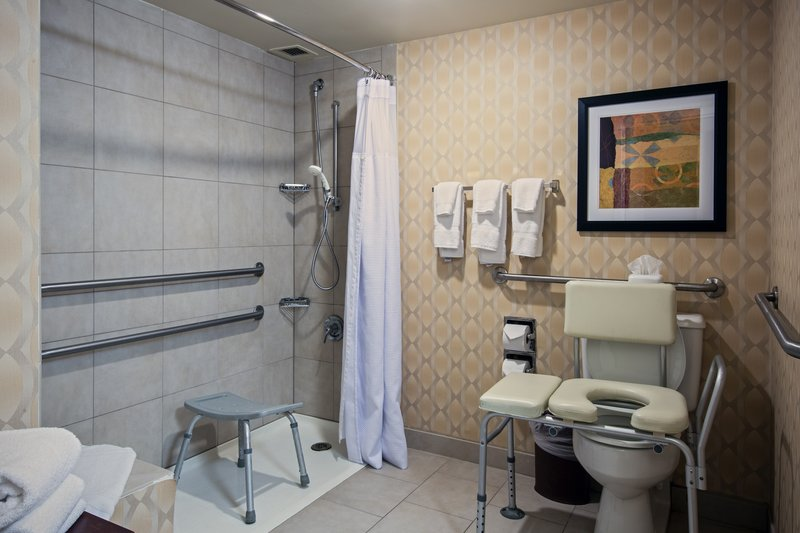 Crowne Plaza St. Louis Airport-ADA Guest Bath with Roll-In Shower<br/>Image from Leonardo
