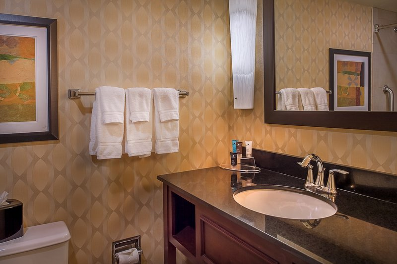 Crowne Plaza St. Louis Airport-Guest Bathroom<br/>Image from Leonardo