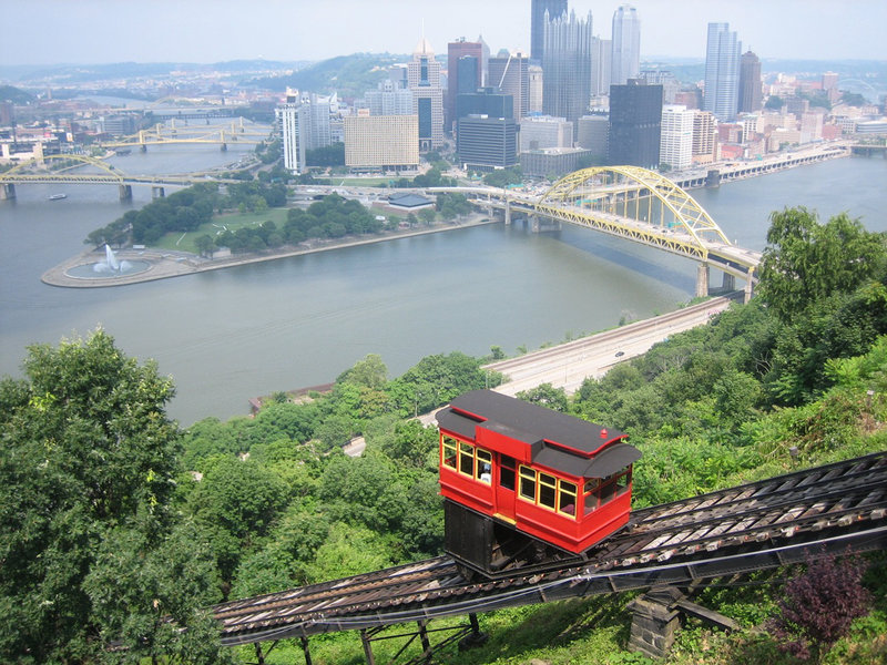Candlewood Suites Pittsburgh-Airport-The view of downtown from the Duquesne incline.  12 miles to town<br/>Image from Leonardo
