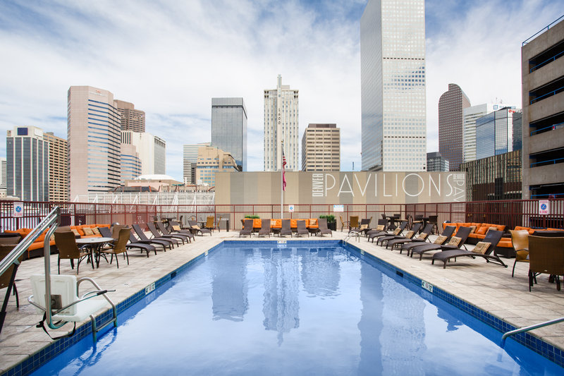 Crowne Plaza Downtown Denver-Seasonal Outdoor Swimming Pool with 360 Degree Views<br/>Image from Leonardo