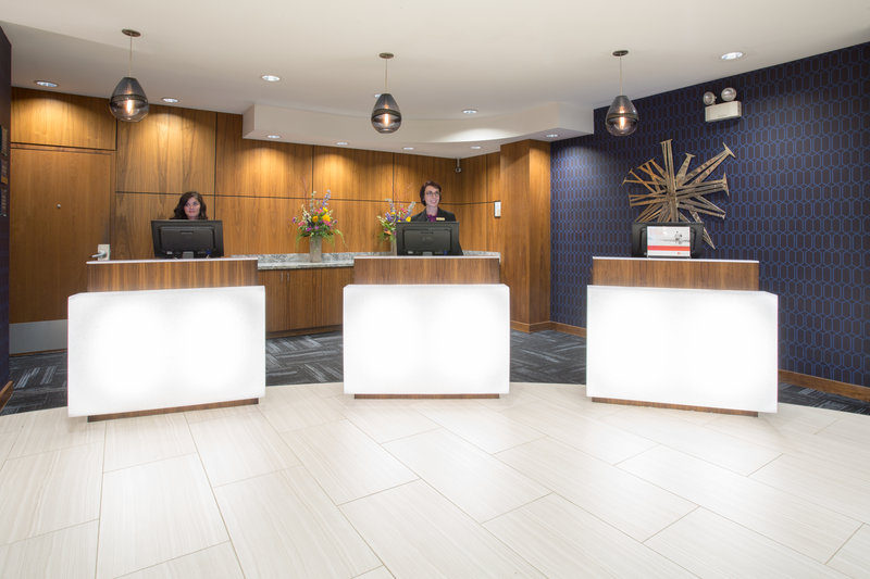Crowne Plaza Downtown Denver-The Front Desk where expert and friendly staff are ready to help.<br/>Image from Leonardo