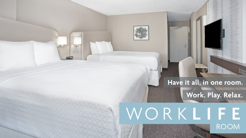 Crowne Plaza Downtown Denver-Two Queen WorkLife Room with Welcome Station<br/>Image from Leonardo