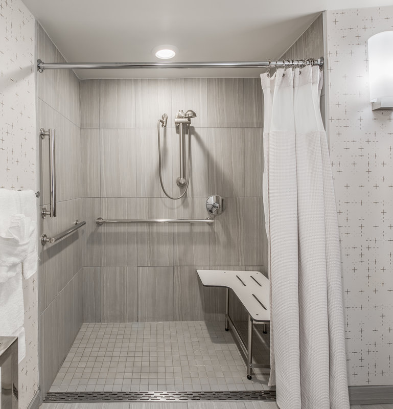 Crowne Plaza Downtown Denver-Accessible Bathroom Roll in Shower<br/>Image from Leonardo